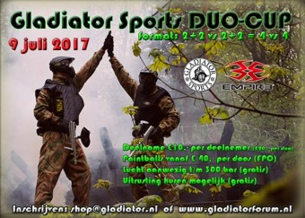Gladiator Sports DUO Cup 2017 Entree fee 1x Deelnemer