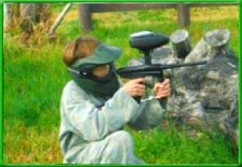 Junior Paintball standaard <br>incl. 100 paintballs