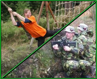 Survival Basic met <br>Lasercombat