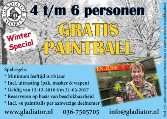 Gladiator winterbon 4-6p <br> Donderdag t/m zondag